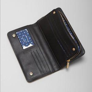 Tory Burch Hidden Zip Robinson Wallet black